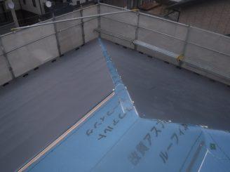 郡山市 屋根重ね葺き 付帯部塗装